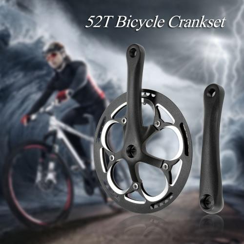 52T Kurbelgarnitur Zahnrad-Fahrrad-Aluminium-Kettenblatt Kurbelgarnitur Bike Kettenrad Kurbeln Fest