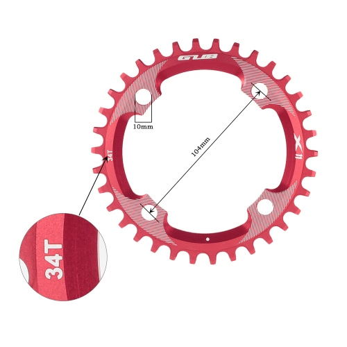 GUB 32T / 34T / 36T AL7075アルミ合金104ミリメートルBCDチェーンリングチェーンホイールギアMTB自転車道の自転車チェーンリングスプロケット