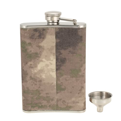 Outdoor Camping Stainless Steel Hip Flask with Small Funnel Alcohol Liquor Wine Flagon Men's Gift