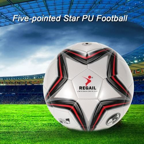 Soft cinco puntos de la estrella de la PU inflable de Fútbol duradero cuero sintético táctil de fútbol para la Formación Adolescente juego de fútbol más joven