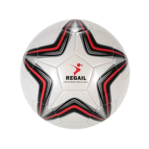 Fünf-Punkte-Stern-PU aufblasbare Fußball Durable Kunstleder Soft-Touch-Fußball für jüngere Teenager Spiel Fußball-Training
