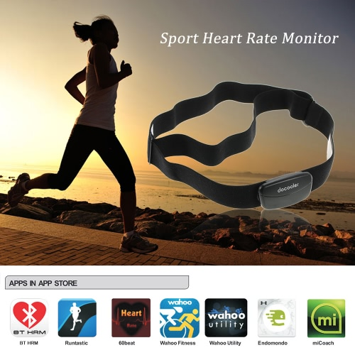 Docooler Bluetooth 4.0 drahtlose Sport-Puls-Monitor-Brustgurt Band Jogging Fitness Übung für iPhone für Android