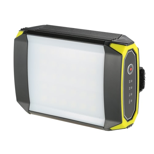 500LM recargable portátiles 30 LED Linterna luz de la lámpara Flasher Mobile Power Bank linterna Puerto USB con salida de entrada USB para la emergencia al aire libre de senderismo Camping Viajes