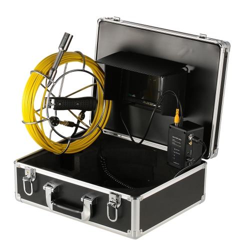 7-дюймовый монитор с жидкокристаллическим монитором для наблюдения за трубопроводами водонепроницаемая подводная канализационная труба Канализационная инспекционная камера Промышленная эндоскопическая система контроля бароскопа с кабелем 30 м