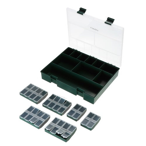 Lidaxa 10 Fächer Angeln Gear Aufbewahrungsbox Angeln Köder Box Fischköder Case Portable Fishing Tackle Box mit Trennwänden