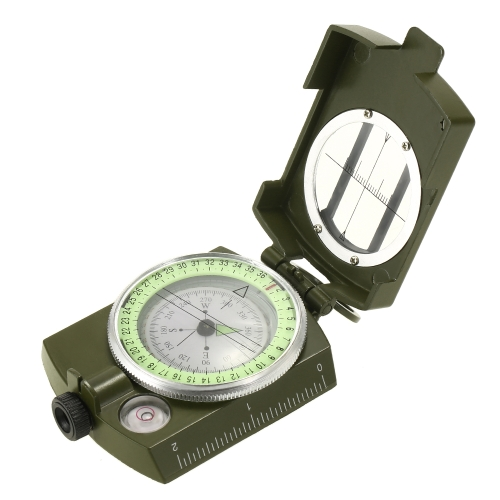 Portable Lensatic Campass Handheld Campass für Outdoor Camping Positionierung Ausrichtung Plotten