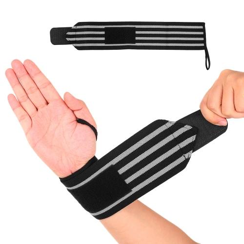 Lixada Compreeion Muñeca Apoyo Apoyo De Muñeca Ajustable Cinturón De Soporte Correas De Muñeca Transpirables Envolver Para Senderismo Baloncesto Deportes al aire libre