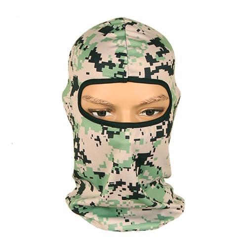 Camuflaje Headwear Máscara de cara completa Deportes al aire libre Cara Hood para ciclismo al aire libre Caza de la motocicleta