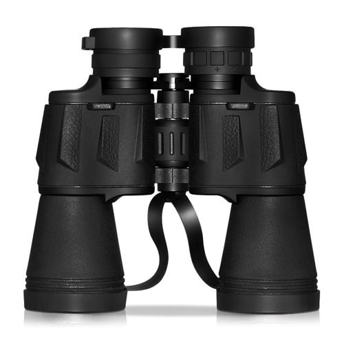 10X50 Potentes prismáticos de tamaño completo Prismáticos transparentes y duraderos para la observación de aves Excursiones Caza Observación de fauna y flora Eventos deportivos con maletín de transporte Correas de lentes