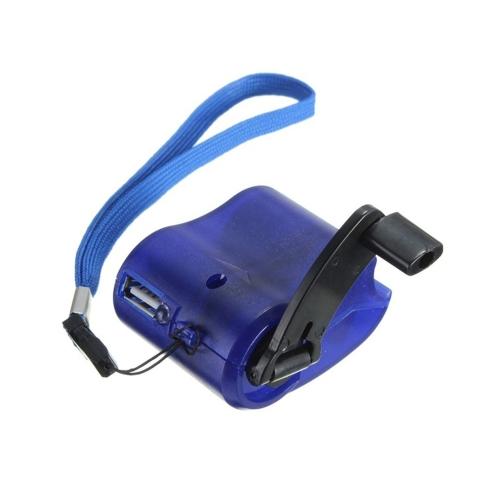 KEIN Universal Hand-gekröpfter manueller USB Port Charger-BLAU