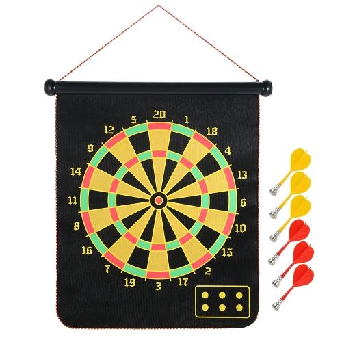 17 Zoll Roll Up Magnetische Dartscheibe Hängende Dartscheibe Spiel mit 6 Darts