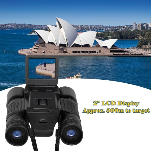 12x32 Digital Camera Binoculars 720P Video Recorder Telescope
