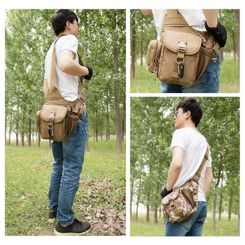 Outdoor Small Satchel Backpack Multifunctional Wear-resistant Backpack Riding Bag Tactics Camouflage Cycling Bag
