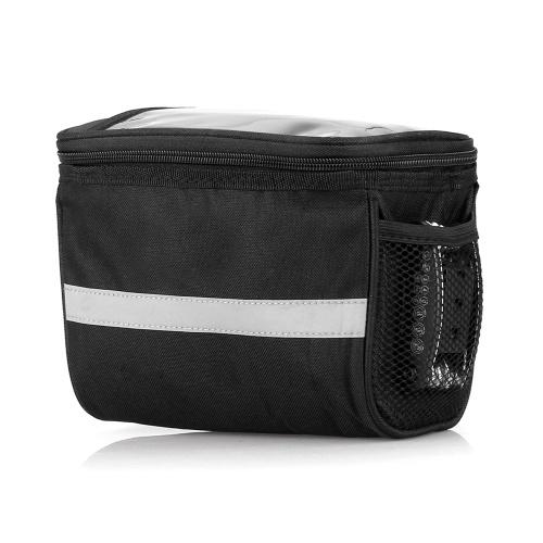 Ciclismo bicicleta isolado saco frontal MTB bicicleta guiador saco cesta Pannier Cooler Bag com faixa reflexiva