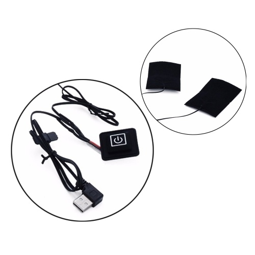 USB Electric Carbon Fiber Heated Film 3 Gear Temperature Control Switch Down Coat Clothes Heating Pad With Switch