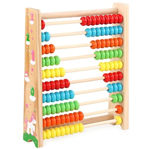 Wooden Abacus Toy Math Wooden Toy Numbers Educational Game Perfect Toddler Toys Logical Thinking Toys Enlightenment Training Aid