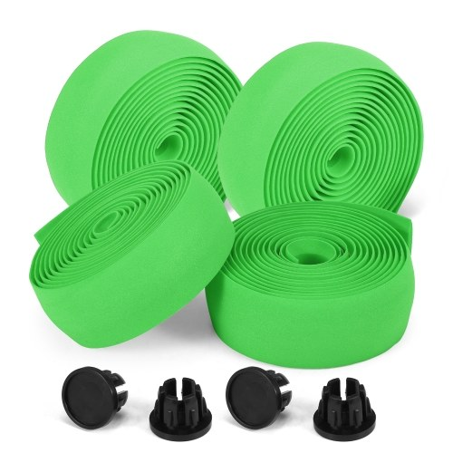 2pcs Bicycle Handlebar Tapes Soft Road Bike Handlebar Band Breathable Non-Slip Cycling Handlebar Belt EVA Bar Tape Bicycle Horns Belt Bike Anti-Slip Shockproof Wrap Riding Equipment Image