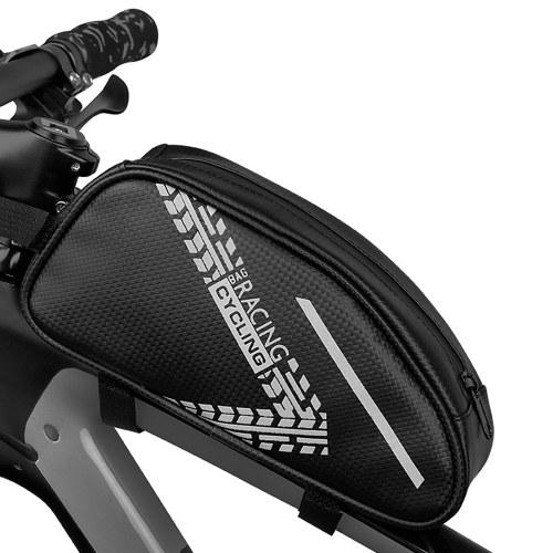 Sac de cadre Triangle de vélo Sac de rangement pour vélo étanche Sac de tube supérieur de vélo Pochette de rangement pour vélo