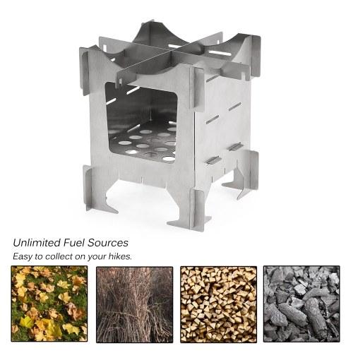 Lightweight Titanium Folding Wood Stove