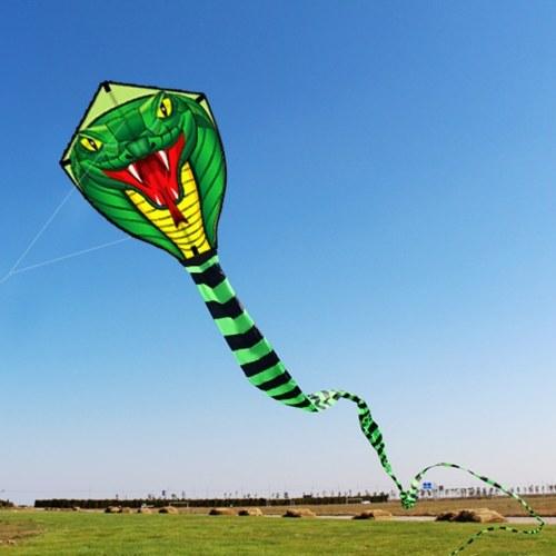 Image de 15M ligne de cerf-volant de serpent géant à une ligne Flying Fun jouet de sport en plein air avec 30M ligne