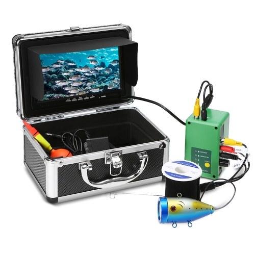 7 '' Портативный TFT-монитор 1000TVL Водонепроницаемый Комплект подводной видеокамеры