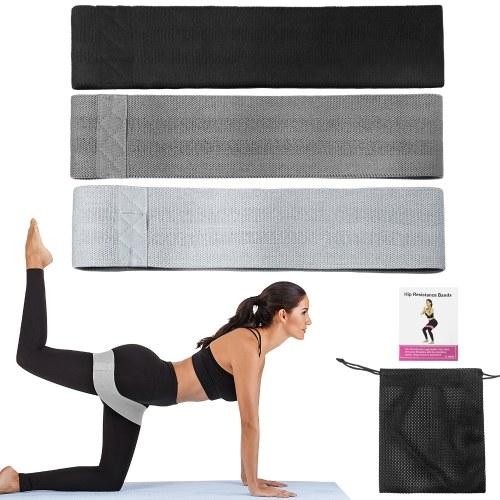 3 PCS-Widerstandsbänder Set Workout-Übungsbänder Sports Assist-Bänder Set für Heimtrainings-Stretching-Training