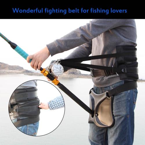 Big Fish Sea Fishing Kampfgürtel Rutenhalter Tackles Einstellbarer Gurt-Taillen-Rutenhalter mit Fischen Harness