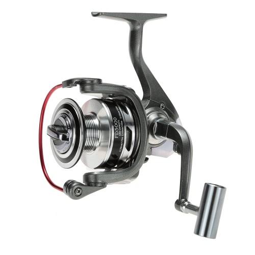 De bobina de metal 12 + 1 rodamientos de bolas liso Potente Carrete Pesca Spinning Izquierda Manija intercambiable / derecha