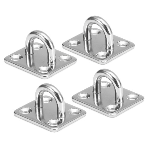 4pcs Pad Eye Plates Marine Hardware Multifunctional Wall Mount Hook Loops