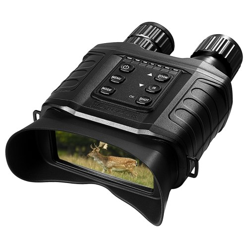Night Vision Binoculars 4X Digital Zoom IR Night Vision Scope with 500m Full Dark Distance Camera Video Modes 32GB TF Card Included