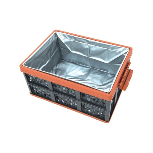 28L Large Capacity Car Trunk Folding Storage Box Folding Plastic Box with Waterproof Backpack Camping Storge Box Image