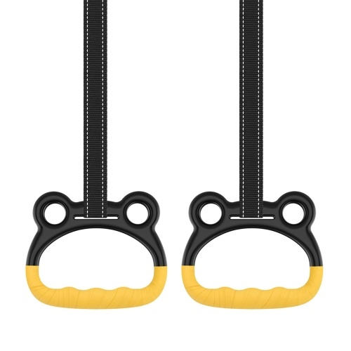 Kids Gymnastic Rings Fitness Swings Hand Rings Boys Girls Pull-ups Bar Rings Children Gym Rings Up to 250KG for Outdoor Indoor