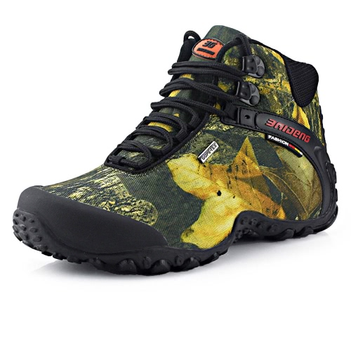 Outdoor Camouflage High-top Shoes Professional Climbing Boots Men's Hiking Shoes Sport Sneaker Water-resistant Trekking Shoes
