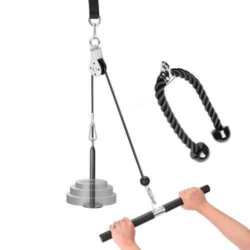 DIY Pulley Rope Fitness System Selbst gemachtes Fitnessgerät Krafttrainingsgerät Pull Down Pulley Rope Fitness System Trizeps Fitnessgerät