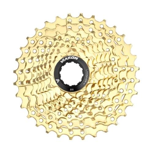 Volante para bicicleta de montanha 9 velocidades 11-32T ouro Engrenagem para bicicleta Roda dentada para bicicleta Acessórios para bicicleta Volante para bicicleta Peças de bicicleta