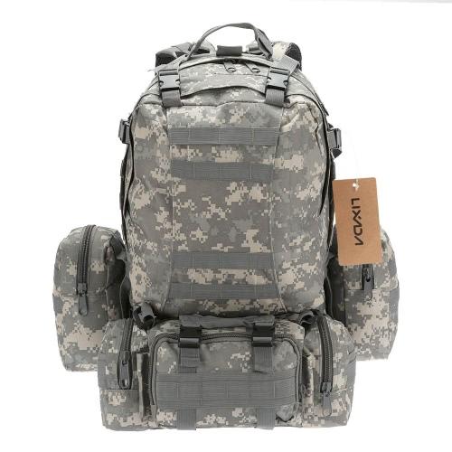 Lixada Outdoor Multifunction Military Tactical Backpack with MOLLE Webbings Rucksack