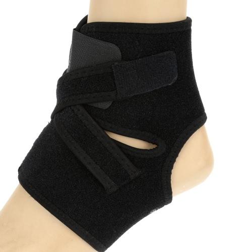 Lixada Sport regolabile elastico alla caviglia piede Brace Support Wrap nero