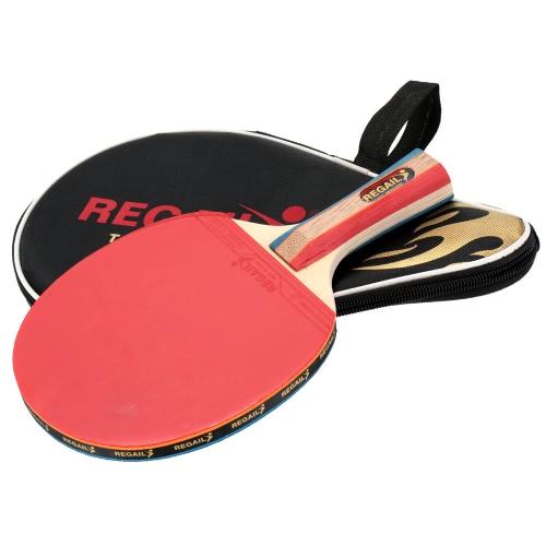 Langer Griff Shake Hand Tischtennis Schläger Ping Pong Paddel Bat Tasche
