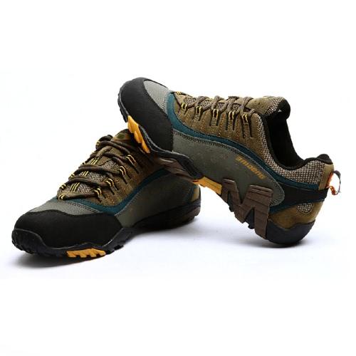 Открытый обувь профессиональная Гора поднимающаяся Пешие прогулки обувь мужская обувь Sneaker спорта, Треккинг обувь с толщиной 2,5 см стелька