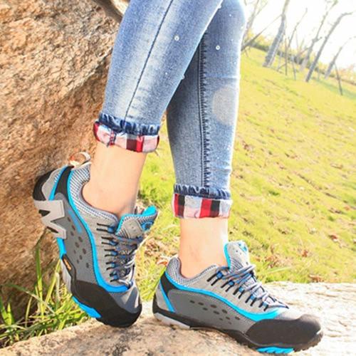 屋外靴専門登山靴レディース ハイキング シューズ スポーツ スニーカー 2.5 cm 厚のインソールと靴をトレッキング