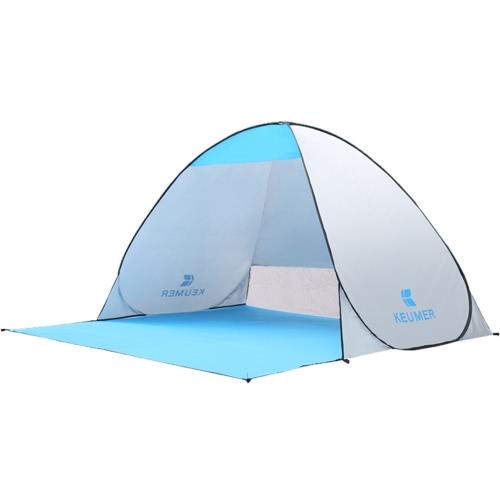 (120 + 60) * 150 * 100cm Außenhilfe Sofort Pop-up Tragbare Strand Zelt Anti-UV-Schutz Camping Fischen Wandern Picknick