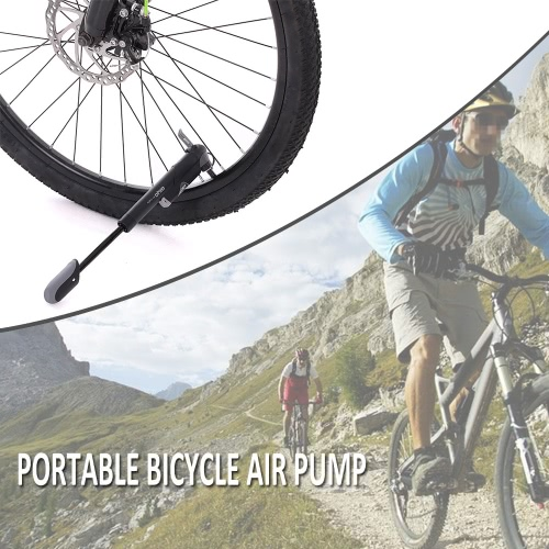 Mini ciclo de la bicicleta de la bomba W / Dentro de la línea de ancho bomba de aire de bicicleta portátil Ciclismo de accesorios con boquilla cambiable