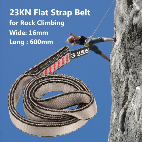 23KN 16mm 60cm/2ft Rope Runner Webbing Sling Flat Strap Belt for Mountaineering Rock Climbing Caving Rappelling Rescue Engineering