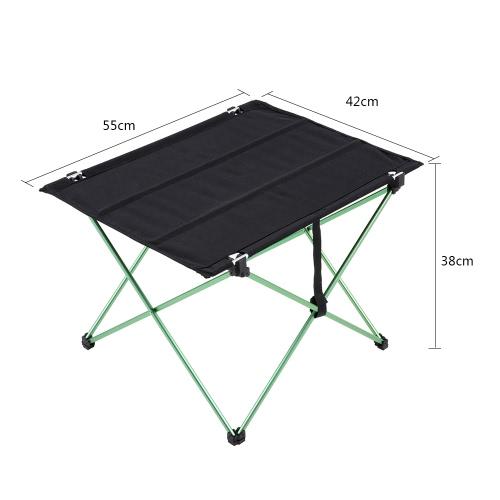 Docooler portátil compacto de camping Versátil mesa plegable de mesa en una Bolsa de picnic en la playa camping Patio Pesca