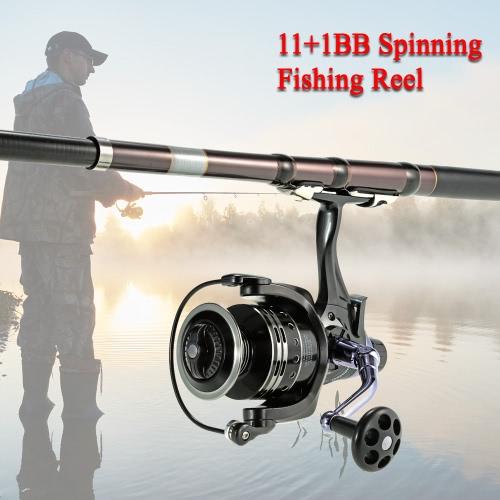 11 + 1BB玉軸受4:7:淡水海水のための1ウルトラスムーズなスピニング釣りリール右/左互換釣りリール
