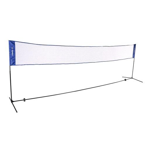 TOMSHOO Quickstart Tennis Badminton Sistema Rete Portable Indoor Outdoor Sports Volley Training Piazza della rete della maglia con il basamento Net e trasporta il sacchetto 3m / 5m