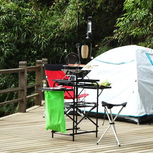 TOMSHOO Outdoor Pack-Away Küche Portable Folding Grill Tisch