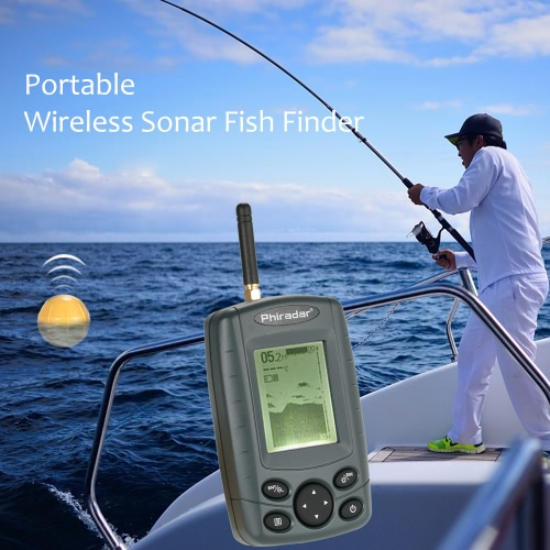 Portable Wireless Sonar Sensor Fish Finder Outdoor 125KHz pesca Fish Finder di profondità Rivelatore allarme Attrezzatura di pesca