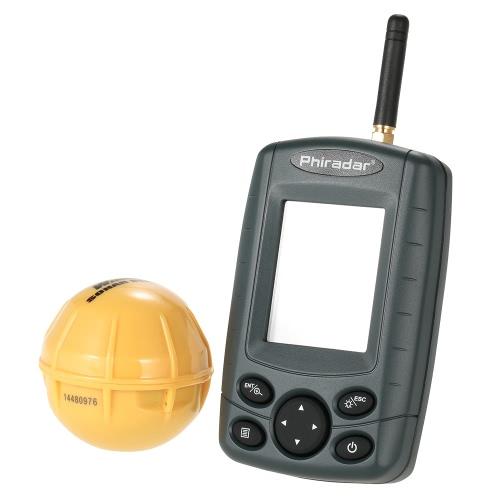 Beweglicher drahtloser Sonar-Sensor-Fisch-Sucher Außen 125kHz Angeln Finder Fischtiefenalarm-Detektor-Fischerei-Gerät