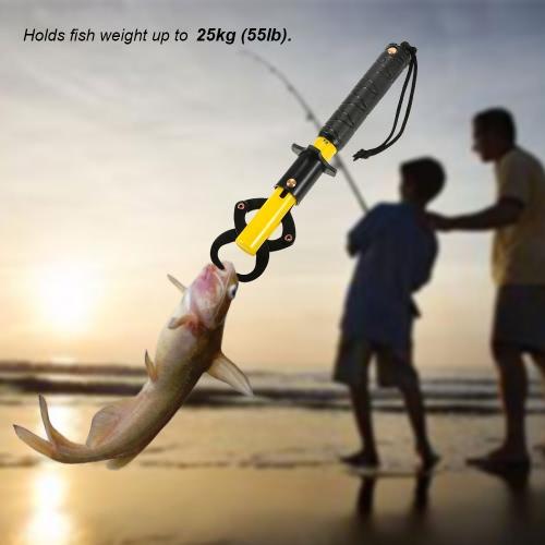 Portátil de la escala de pescados sostenedor de los pescados herramienta Clip Asa las artes de pesca al aire libre de los pescados del labio del agarrador de mano de los pescados de labios con la escala del peso